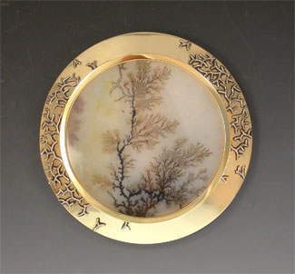 The making of a masterpiece iv dendritic agate pendantbrooch 10057pmsanw aloadofball Choice Image