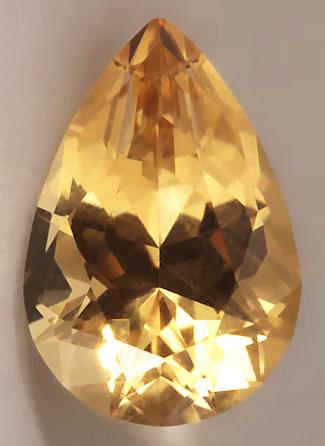 10986:  2.11 Carat pear shaped brilliant cut with exceptional vivid color and crystal.