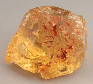 10987 Rough material from which the 1.74 carat oval, 10987, was cut.